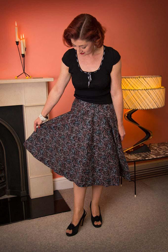 Vintage sewing circle skirt