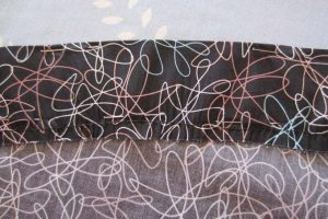 Vintage sewing gathered bottom hem
