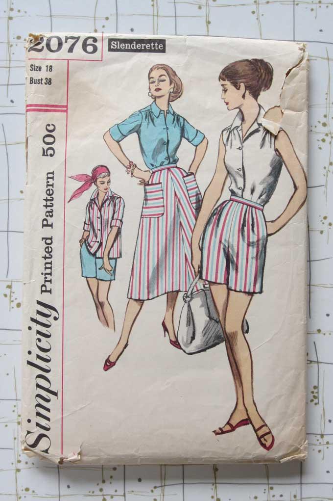 50s shorts pattern