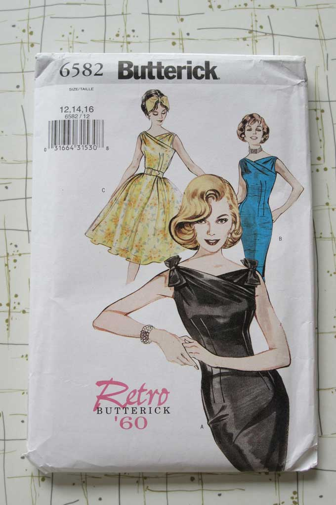 butterick 50s dress pattern