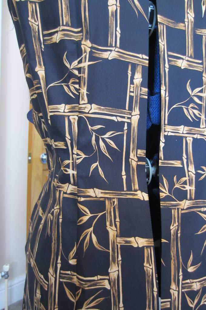Vintage dressmaking invisible zip