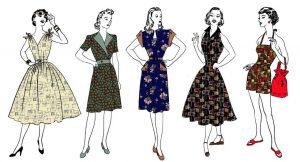 50s fashion drawings