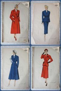 50s fashion drawing