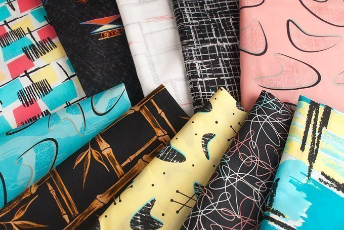 1950s retro fashion fabrics