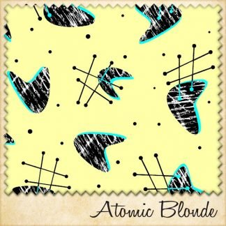1950s fabric atomic blonde sample