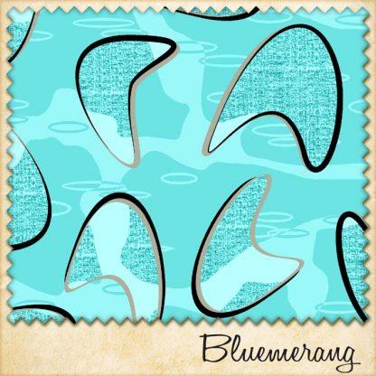 1950s fabric bluemerang sample