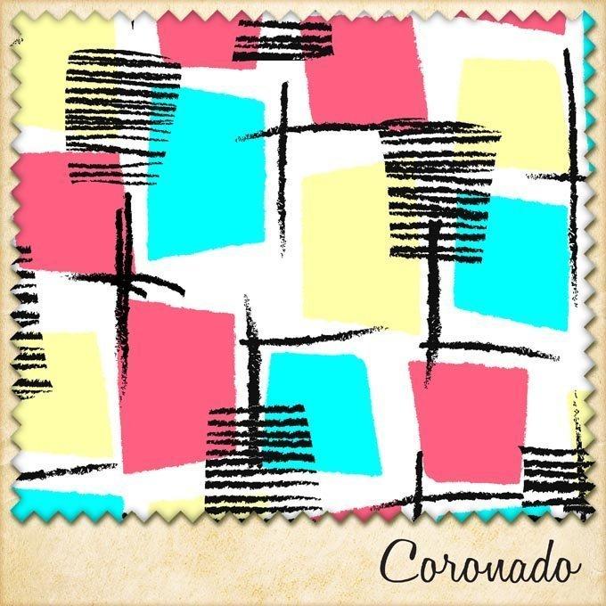 1950s fabric coronado sample