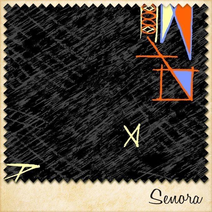 1950s fabric senora sample