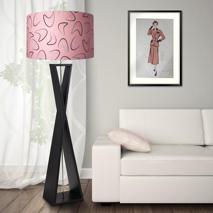 1950s retro vintage style midcentury bamboo lamp shade