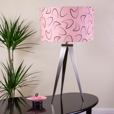 1950s retro vintage style midcentury boomerang lamp shade