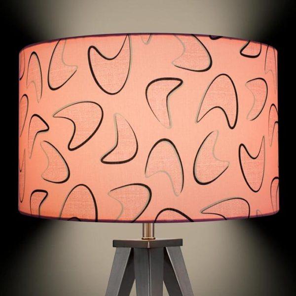 1950s retro vintage style midcentury boomerang lamp shade