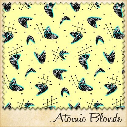 1950s vintage style fabric atomic blonde
