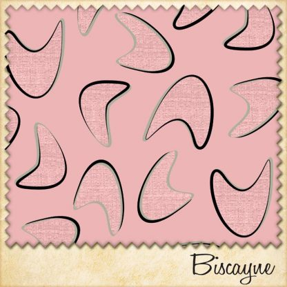 1950s vintage style boomerang fabric biscayne