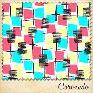 1950s vintage style fabric coronado