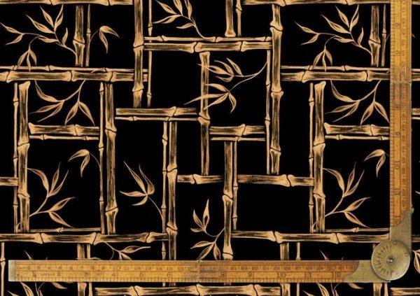1950s vintage style tiki bamboo fabric kona bambusa