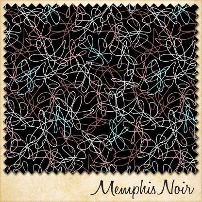 1950s vintage style atomic fabric memphis noir