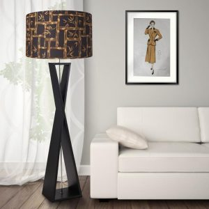 1950s retro vintage style tiki bamboo midcentury lamp shade