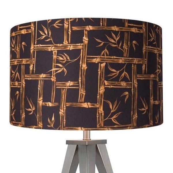 1950s retro vintage style midcentury tiki bamboo lamp shade