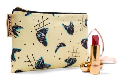 1950s vintage style atomic beauty makeup bag