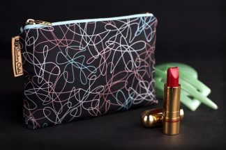 1950s vintage style atomic beauty makeup bag