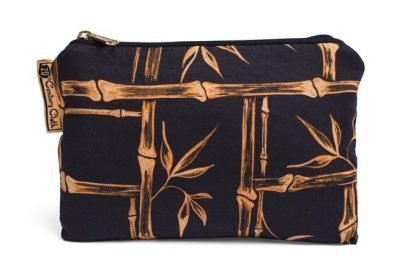 1950s vintage style tiki bamboo beauty makeup bag
