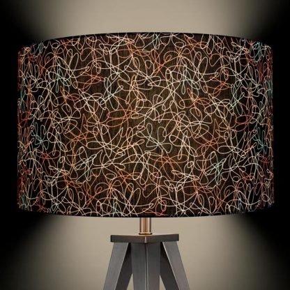 1950s retro vintage style midcentury atomic lamp shade