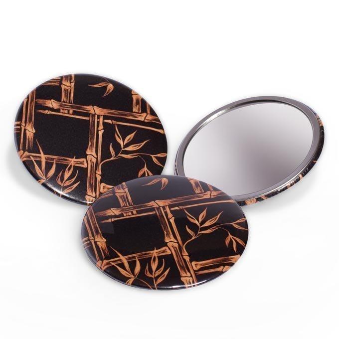 1950s vintage style tiki bamboo beauty mirror