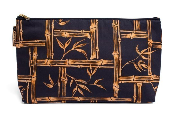 1950s vintage style tiki bamboo beauty wash bag