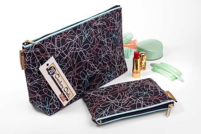 1950s vintage style beauty wash and makeup bags