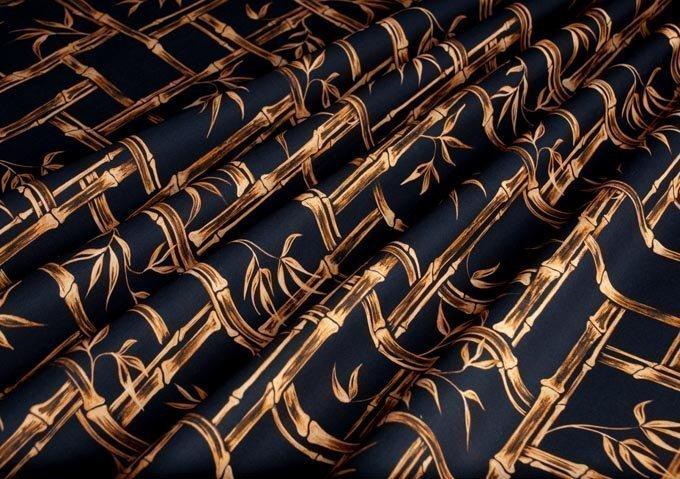 1950s vintage style fabric tiki kona bambusa