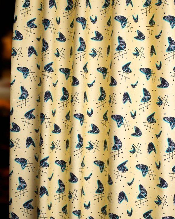 atomic blonde mid century fabric