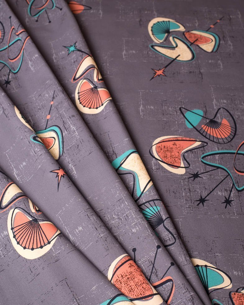 1950's retro mid century fabric