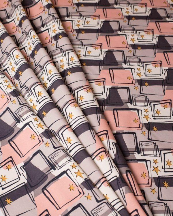 starlight retro mid century fabric