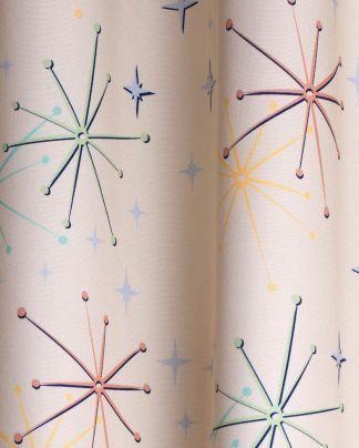 50s retro atomic fabric