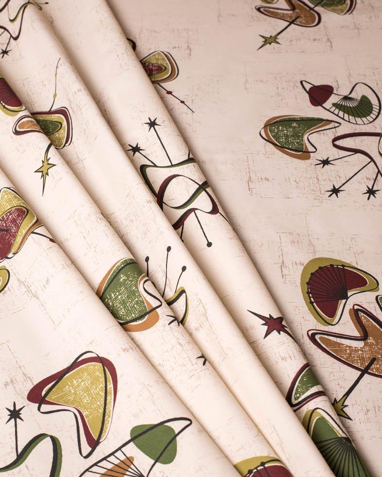 50's retro mid century fabric