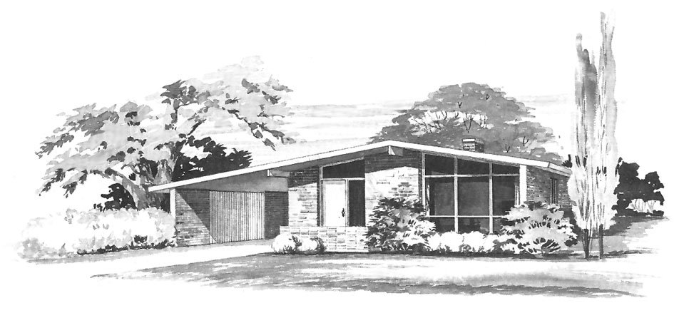 50s mid century house
