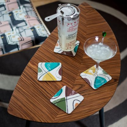 spiro retro atomic coasters