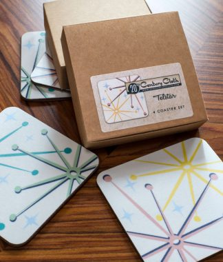 telstar retro atomic 50s coasters