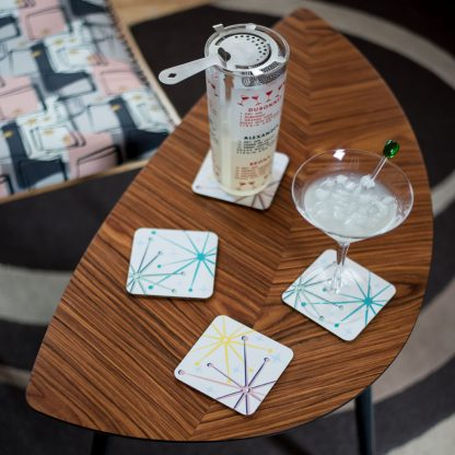 telstar retro atomic coasters