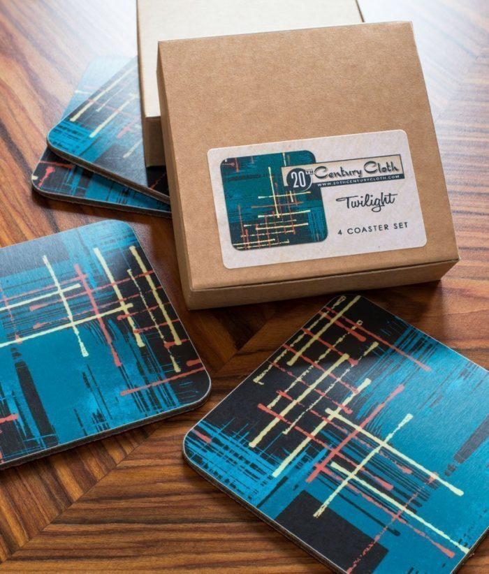 twilight retro atomic 50s coasters