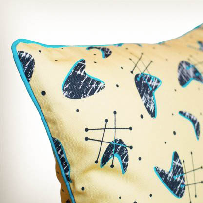 atomic blonde retro atomic 50s cushion