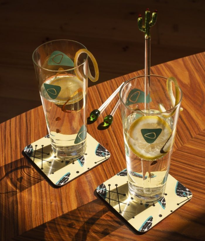 cocktail bar retro atomic 50s coasters