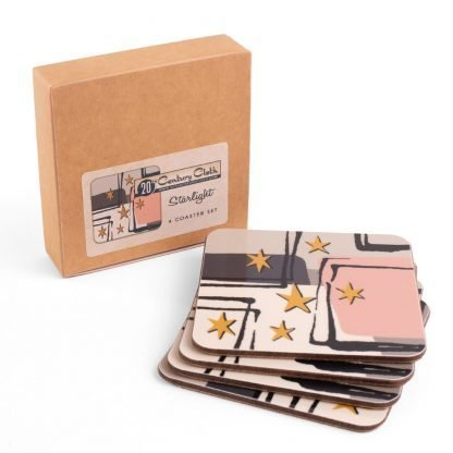 starlight vintage melamine coaster set