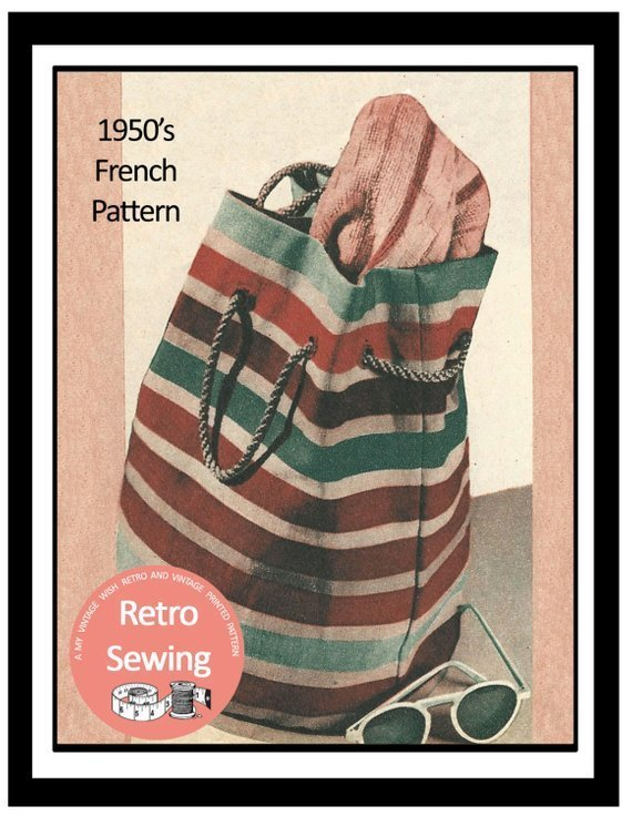 1950s 50s sewing bag pattern