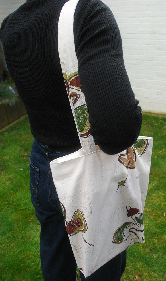 Boomerang midcentury tote bag