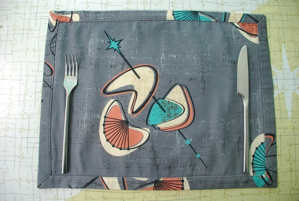 Boomerang fabric placemats