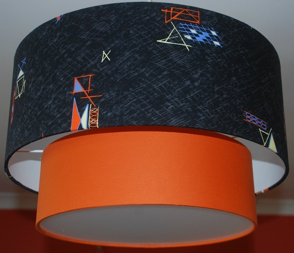 1950s 50s two tier lampshade