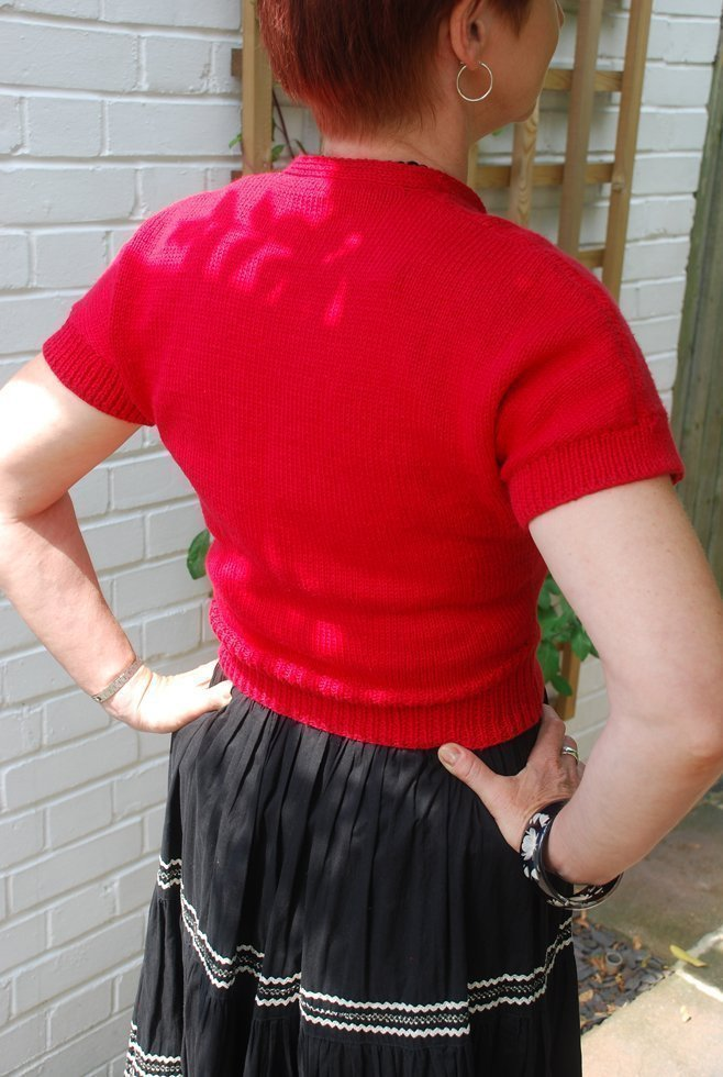 Red 1950s cardigan