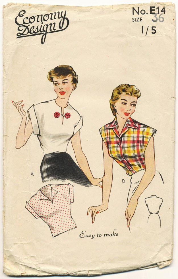 Economy design 1950s sewing pattern