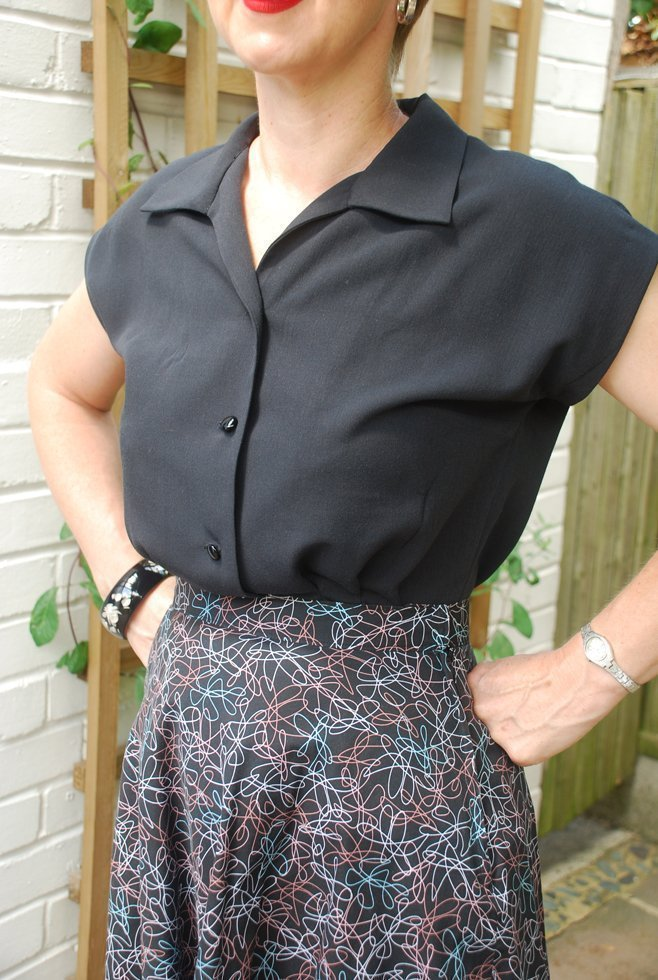 hand made 1950s blouse